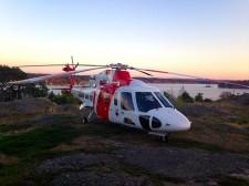 Helikopterplatta på Amerikaberget, Dalarö